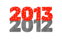Happy New Year 2013. Cartoon illustration stock illustration
