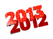 Happy New Year 2013. Cartoon illustration vector illustration