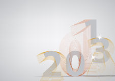 Happy new year 2013. Vector Illustration, card or background Stock Photography