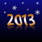 Happy New Year 2013. Illustrated background of Happy New Year 2013 Royalty Free Stock Image