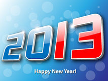 Happy new year 2013. Background Stock Photo