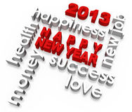 Happy New Year 2013. And good wishes Stock Photography