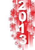 Happy New Year 2013. Abstract background of a New Year's card Royalty Free Stock Photography