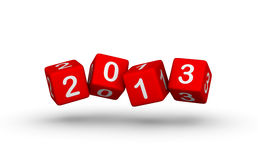 Happy New Year 2013. Cubes sign Stock Image