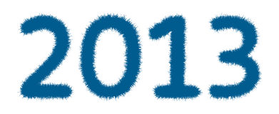 Happy new year 2013. Stock Photography