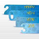 Happy New Year 2013. Happy new year's eve with snow icon, blue on white Stock Image