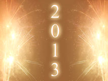 Happy new year 2013. Background Royalty Free Stock Photo