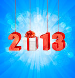 Happy new year 2013!. New year design template. Vector illustration Royalty Free Stock Photo