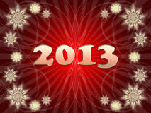 Happy New Year 2013. Greeting card Royalty Free Stock Images