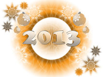 Happy New Year 2013. Greeting card Stock Images