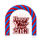 Happy new year 2013. With balloons Royalty Free Stock Photo