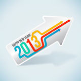 Happy New Year 2013!. Arrows concept for new year Stock Photos