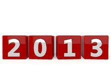 Happy New Year 2013. On white background Royalty Free Stock Photography