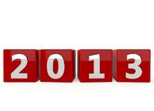 Happy New Year 2013. On white background stock illustration