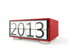Happy New Year 2013. 3d render of new year 2013 on white background Royalty Free Stock Images