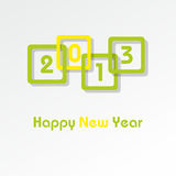 Happy New Year 2013. Vector card Happy New Year 2013 Stock Image
