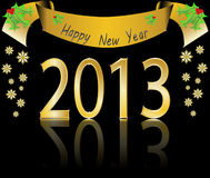 Happy new year 2013. Illustration Royalty Free Stock Image