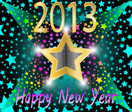 Happy new year 2013. Illustration Stock Photos