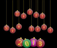 Happy new year 2013. Illustration Royalty Free Stock Photo
