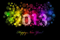Happy New Year - 2013. Vector Happy New Year - 2013 colorful background Royalty Free Stock Photography