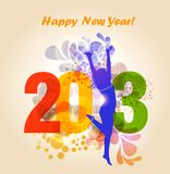 Happy new year 2013. Vector happy new year 2013 for your project Stock Images
