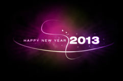 Happy New Year 2013. Dark background with New Year's wishes stock illustration