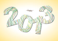 Happy New Year - 2013. Made in abstract stock style, colorful and classy. Happy 2013 Stock Photo