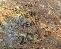 Happy new year 2013. 2013 sculpted in ancient stone Royalty Free Stock Photos