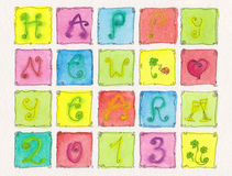 Happy New Year 2013. Greeting card Royalty Free Stock Photos