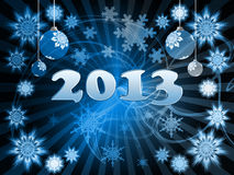 Happy New Year 2013. Greeting card Stock Image