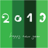 Happy New Year 2013. Card with handwritten text royalty free illustration
