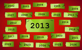 Happy New Year 2013. Ripped paper background, Happy New Year 2013 Stock Images