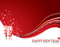 Happy New Year 2013. Vector Happy New Year illustration for 2013 Stock Photo