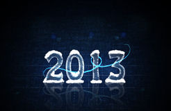 A Happy New Year 2013. Illustration with the number 2013 royalty free illustration