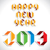 Happy new year 2013. Stock vector royalty free illustration
