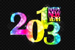 Happy New Year 2013. Vector illustration of colorful new year wallpaper for 2013 stock illustration