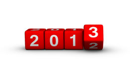 Happy New Year 2013. Cubes sign Stock Images