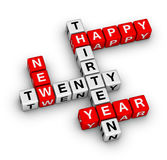 Happy New Year 2013. Cubes sign Royalty Free Stock Photo