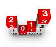 Happy New Year 2013. Cubes sign Stock Photos