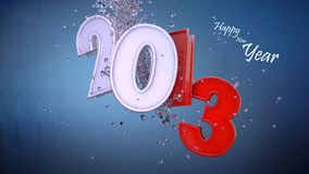 Happy New Year 2013. 3D scene for 2013 happy new year stock illustration