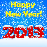 Happy new year 2013. With snow Royalty Free Illustration