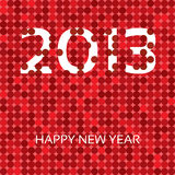 Happy New Year 2013. Happy new year card 2013 with handwritten text Royalty Free Stock Photos