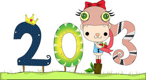 Happy New Year 2013. This years is year of Snake i wish everyone happy so much through Royalty Free Stock Images
