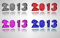 Happy New Year 2013. Logo royalty free illustration