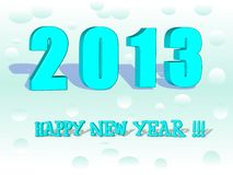 Happy New Year 2013 in 3D Stock Images