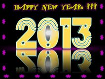 Happy New Year 2013 in 3D Stock Photo