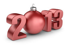 Happy new year 2013. 3D calendar  Stock Photos
