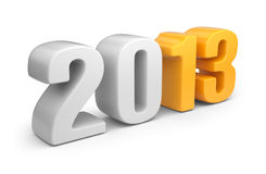 Happy new year 2013. 3D calendar isolated Royalty Free Stock Photos