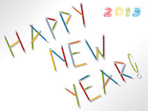 Happy new year 2013 background. 2013 happy new year background design with pencils Stock Image