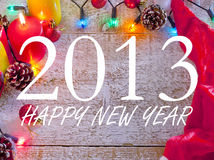 Happy new year 2013 background. Ornament design of happy new year Stock Photography